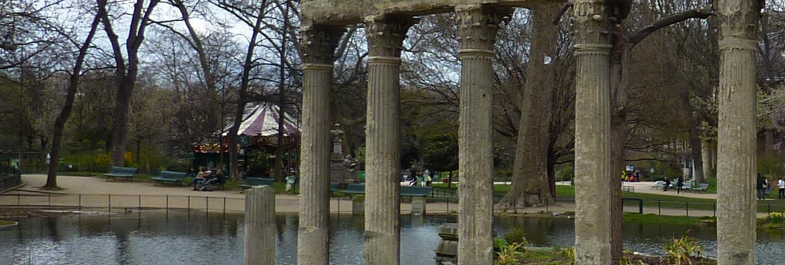 Vue du parc Monceau